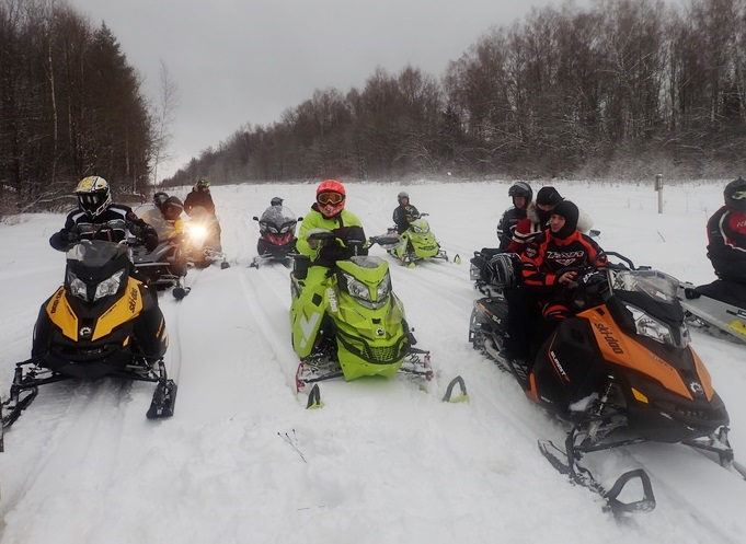 Снегоходный пробег BOMBARDIER CLUB в Этномире