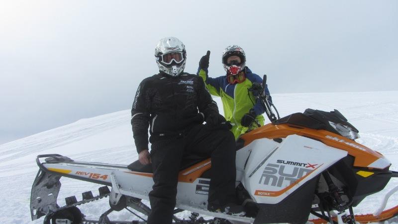 Тест-драйв снегоходов Ski-Doo и LYNX 2017 в Шерегеше 2016г.