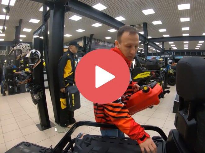 Видео обзор крепежа аксессуаров LinQ для снегоходов Ski-Doo Expedition, Commander