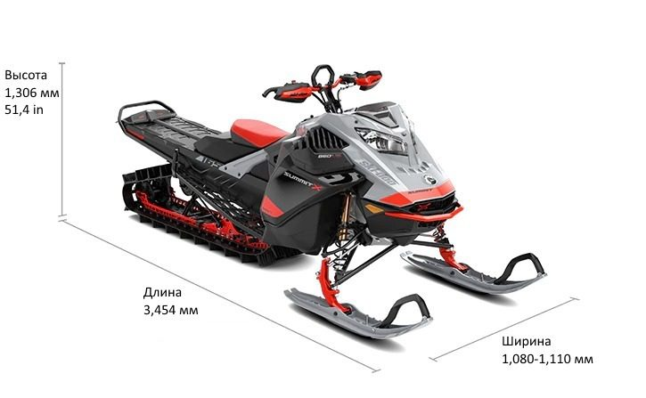 "Ski-Doo Summit 850 Е-ТЕС TURBO 175"" 2021"