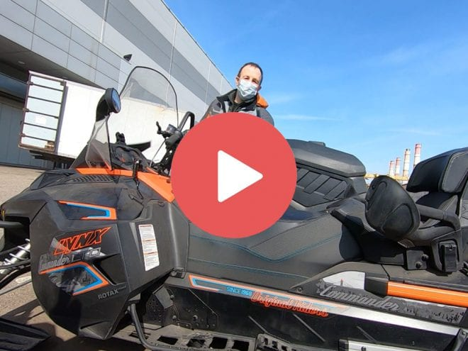Самоконсервация двигателей E-TEC на снегоходах BRP