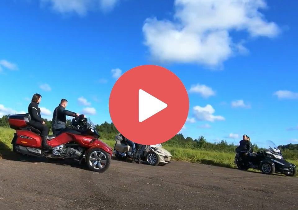 Поездка на трициклах Can-Am Spyder по Тверской области 13-14 августа