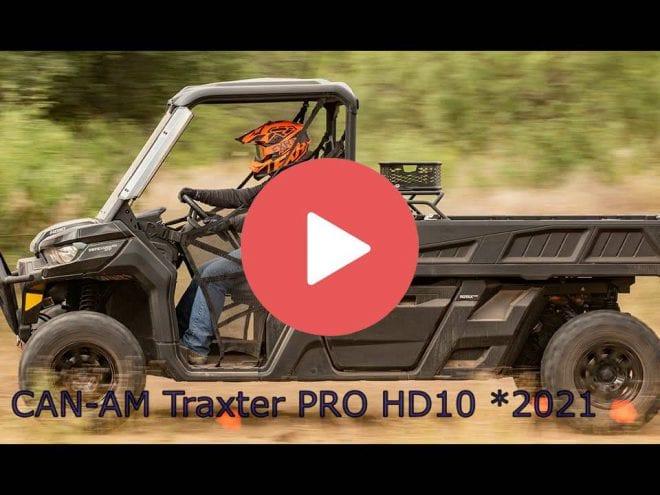 CAN-AM TRAXTER PRO DPS HD10.  Видеообзор мотовездехода.