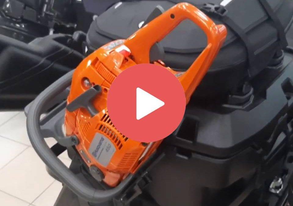 Снятие и установка держателя ледобура на снегоходах SKI-DOO и LYNX. + бензопила и ружейный кофр