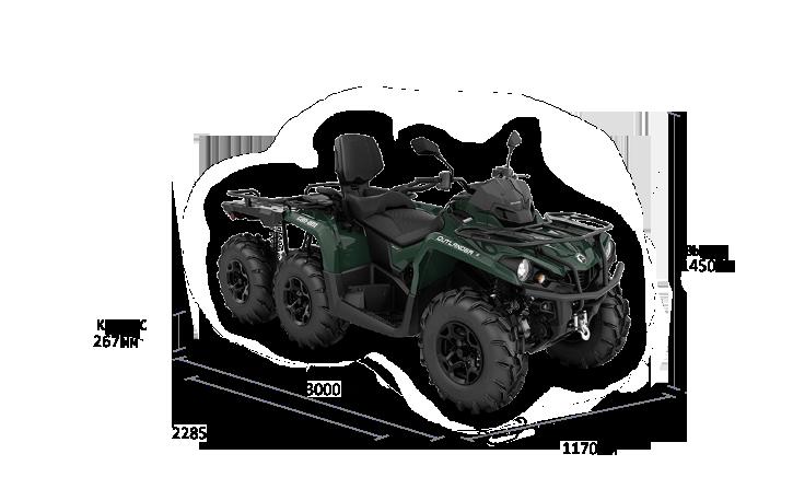 Can-Am OUTLANDER MAX 6X6 XU+ 450 T 2022
